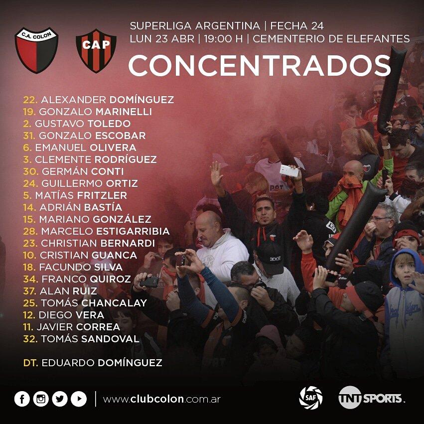 Colón-Patronato, por la Superliga: horario, TV y formaciones