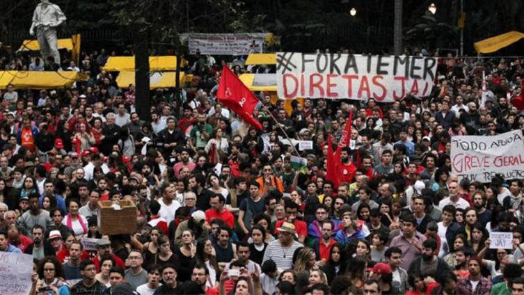 Manifestaciones en Brasil para pedir la renuncia de Temer