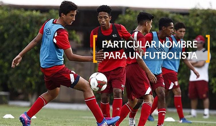 El curioso nombre de un futbolista peruano: