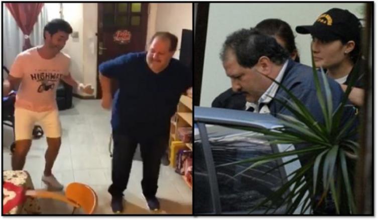 Mariano Martínez pasó Navidad junto a su papá, luego de la cárcel