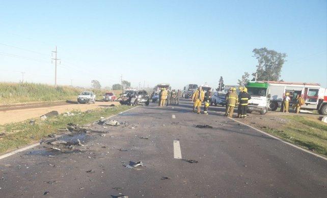 Sunchales: cuatro muertos en un accidente en ruta 34