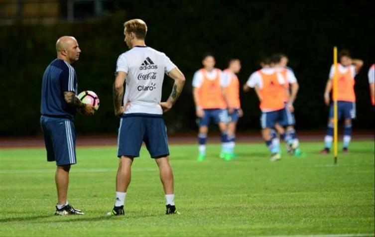 Sampaoli se juntó con Icardi en Milán
