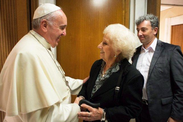 Francisco se reunirá nuevamente con Estela de Carlotto en el Vaticano