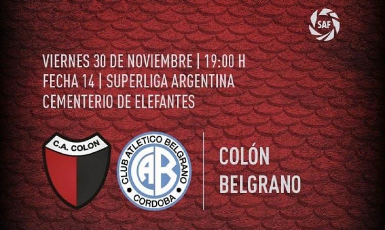 Colón y Belgrano empatan sin brillo y siguen en racha negativa
