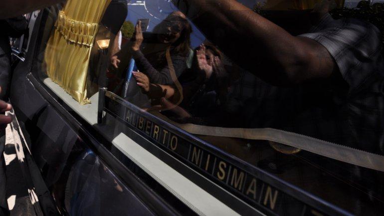 Arroyo Salgado en el entierro de Nisman: