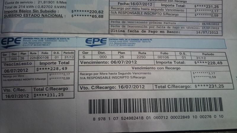 """EPE: problemas en el reparto de facturas que llegan """"casi vencidas"""""""